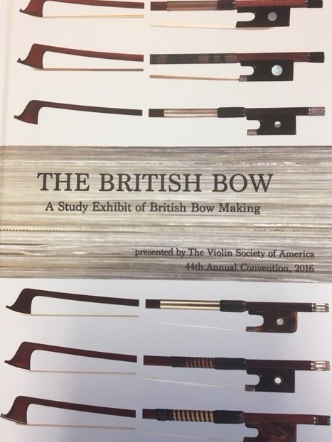 VSA: The British Bow, study exhibit 2016